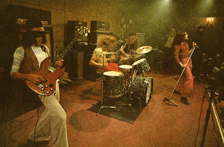 The mighty Free onstage 1970Andy Fraser, Simon Kirke, Paul Kossoff and Paul Rodgers