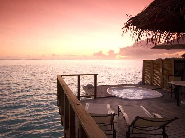 Could life get any better than living or vacationing in this paradise?  Conrad Maldives Rangali Island resort