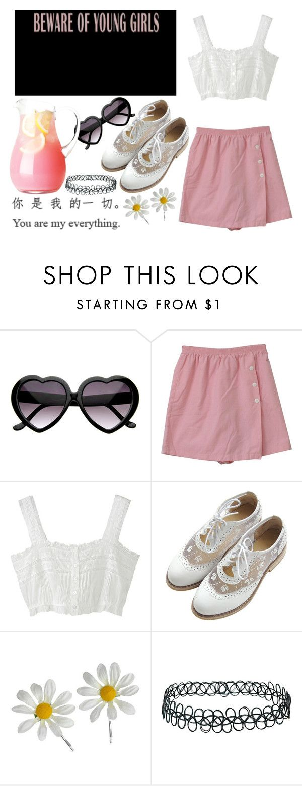 """Nymphet"" by im-the-princess ❤ liked on Polyvore featuring Novelty, Miss Selfridge, Topshop, lolita, nymphet, heartshapedsunglasses and bambieyes"