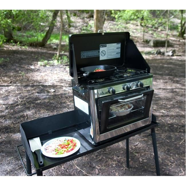 Surprising Camp Chef Deluxe Outdoor Camping Oven And 2 Burner Stove Home Interior And Landscaping Spoatsignezvosmurscom