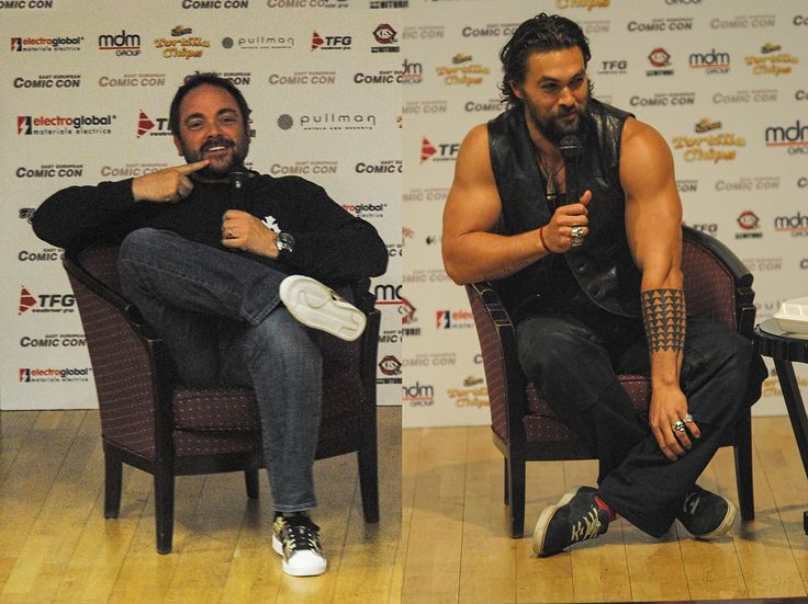 Mark Sheppard & Jason Momoa - East European Comic Con 2014