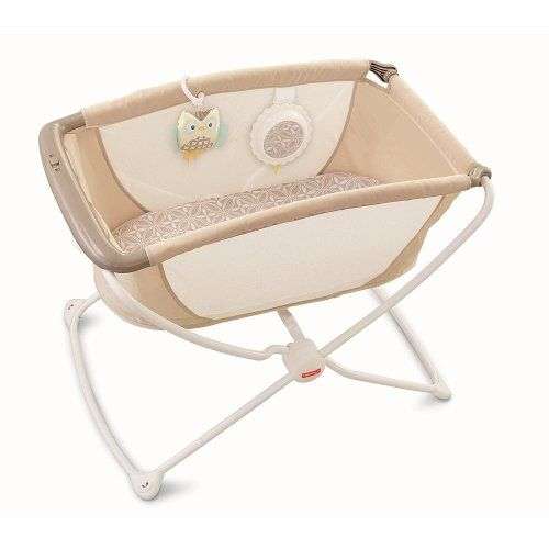 Fisher price rock 39 n play portable bassinet tan lattice for Portable bassinet