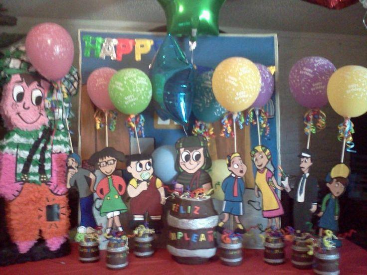 Piñata y centros de mesa del Chavo del 8 | Fiestas y eventos ...