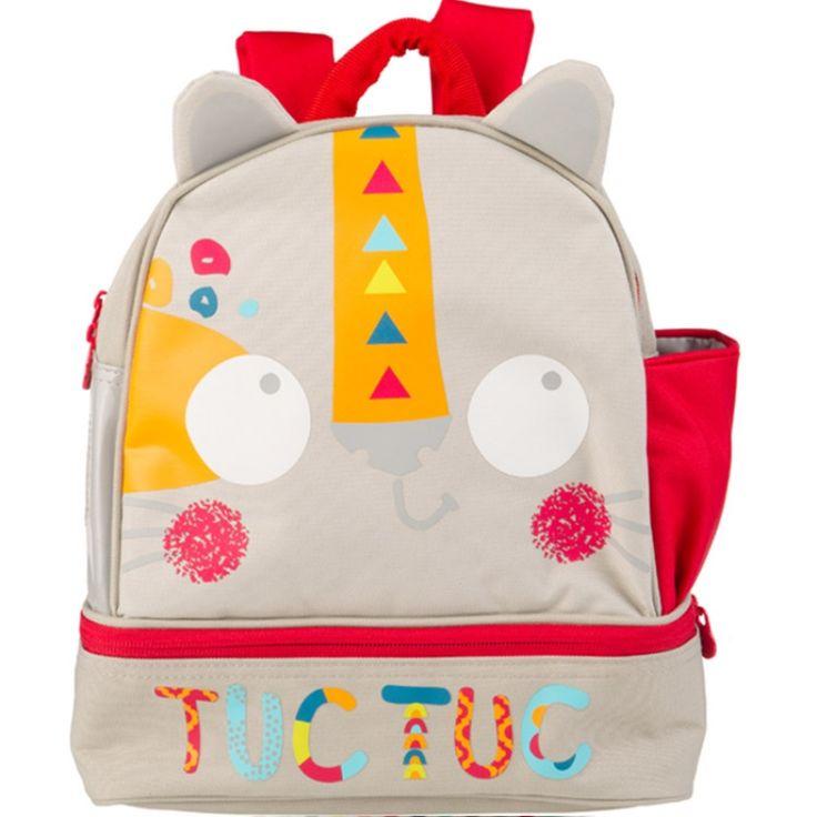 Le sac à dos junior avec boîte à repas Baobab écru  de la marque Tuc Tuc est idéal pour les sorties, le centre aéré ou l'école. Avec sa forme originale et ses couleurs attrayantes, votre enfant ne pourra plus s'en passer !