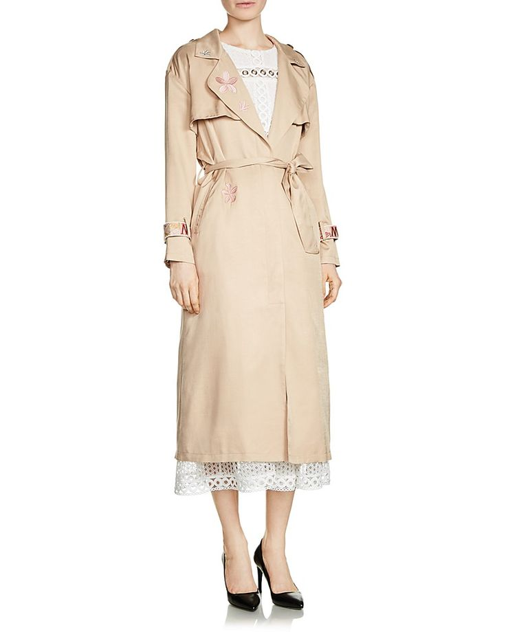 675.00$  Buy here - http://vijdk.justgood.pw/vig/item.php?t=l7d3j0y15415 - Maje Glorie Embroidered Trench Coat