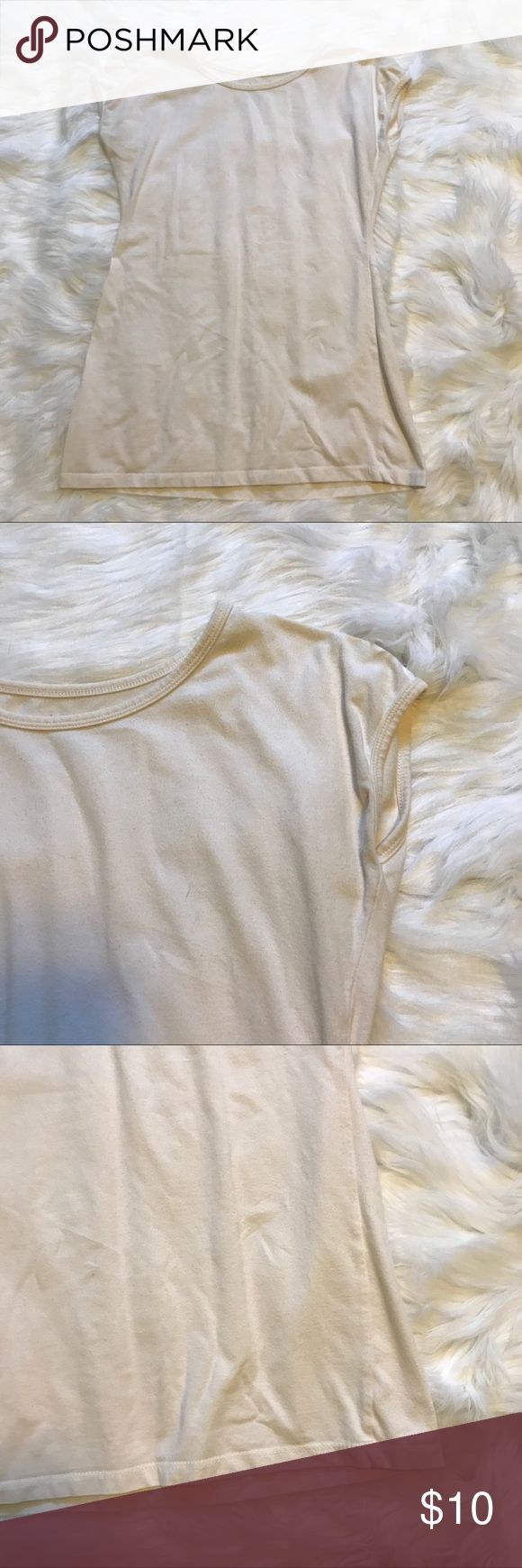 Basic Cream Tee by Downeast Basic cream T-Shirt in size M by Shade sold at Downeast Downeast Basics Tops Tees - Short Sleeve