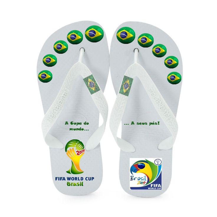 Campanha desenvolvida para a Havaina, sandália especial desenvolvida para a Copa do Mundo de 2014 - Gestão de Projetos (PP)