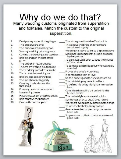 bridal shower game that highlights the reasons behind wedding traditions who knew projects to try pinterest bridal shower games bridal shower and