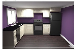 purple kitchen - paint color for downstairs kitchen?