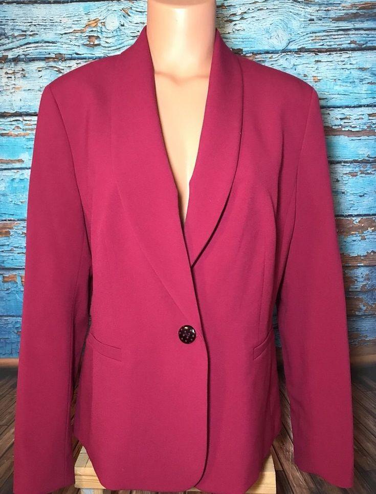 Nine West Pink Blazer Sz 12 One Button Lined  | eBay