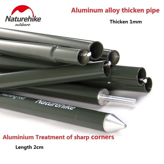2sets Package Naturehike Factory Store Camping Awning Pole Aluminium Alloy Awning Rod Tent Poles Review Tent Accessories Canopy Tent Tent Poles