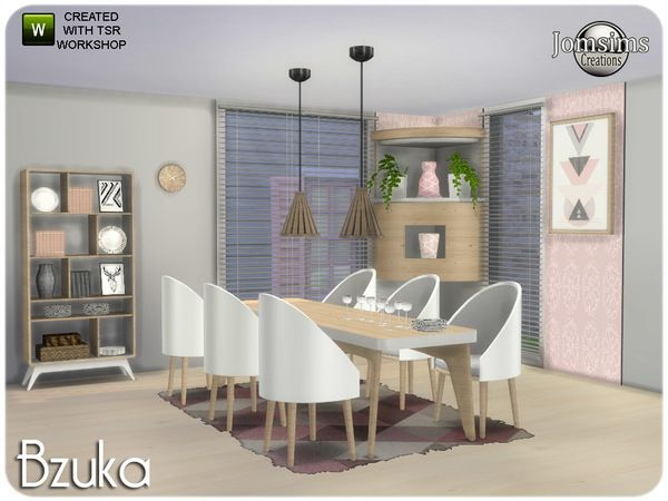 The Sims 4 Bzuka Dining Room Sims House Sims 4 Kitchen Sims House Design