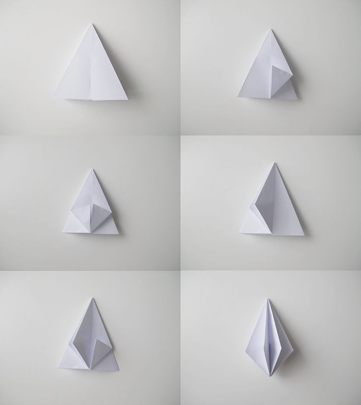 These diamond shapes are another great way to create a 3D form, while the pieces of paper left unfolded create texture and create more areas of tone.