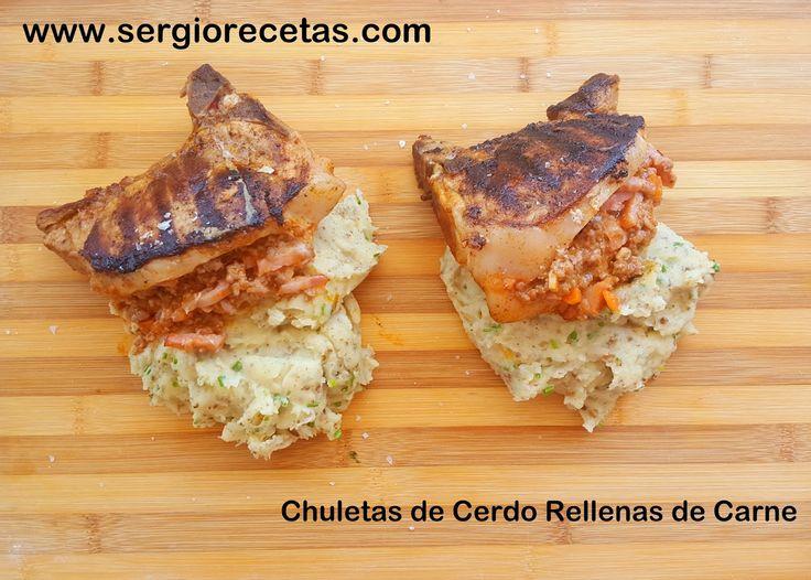 Sergio Benito Recetas: Chuletas de Cerdo Rellenas de Carne/Ideas para Cocinar en Verano