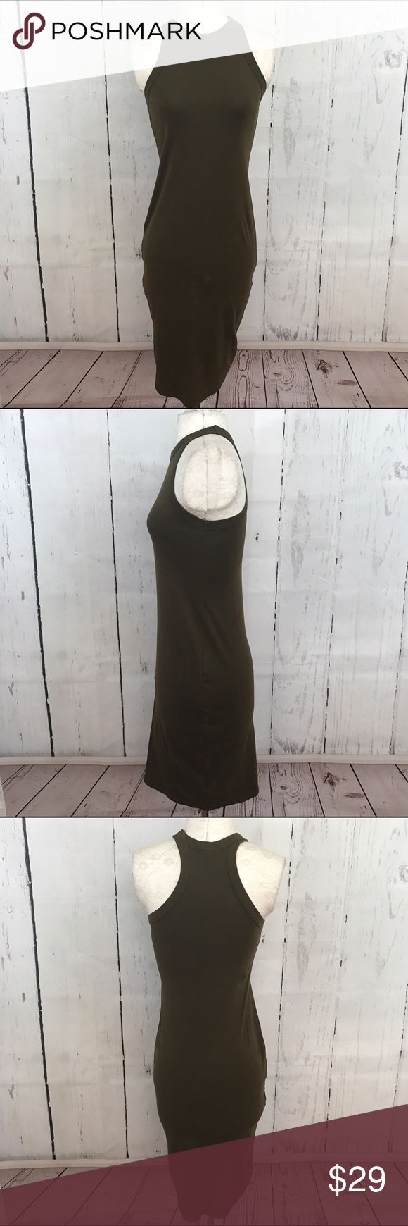 """🖤🖤 HIGH NECK MIDI DRESS B33 Condition: Euc Approximate measurements (laying flat): 13.5"""" bust 38"""" length  Item location: bin 33   **bundles save 10%** no trades/no modeling/no asking for lowest Topshop Dresses Midi"""