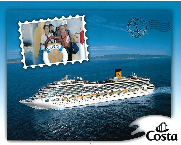 Foto des Kreuzfahrtschiffes Costa Magica bei Tag, 20 x 25 cm, aus 2009