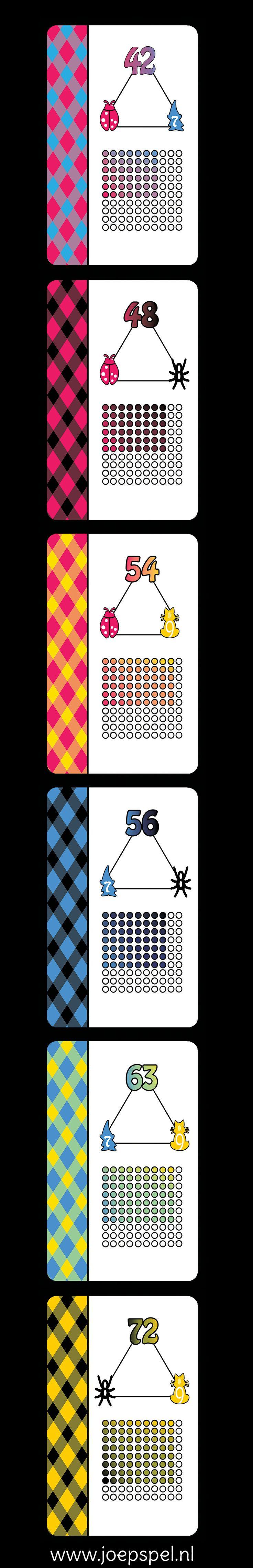 """Xpeditie tafelsom is een kaartspel, waarmee kinderen op een leuke manier kennis maken met de tafelgetallen. Bij het spel hoef je niet te rekenen en toch leer je de tafels!  Elke tafel heeft zijn eigen kleur en symbool gekregen.  Door de visualisatie van het beeld, is het terughalen van de som een makkie. Stap in je bootje en ga op zoek naar de schatten die onder de """"tafeleilanden"""" verstopt liggen! #tafels leren #beelddenken"""