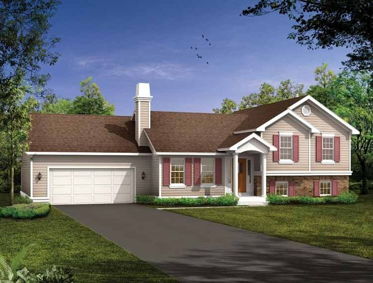 Eplans+Split+Level+House+Plan+-+Well+Protected+-+1285+Square+Feet+and+3+Bedrooms+from+Eplans+-+House+Plan+Code+HWEPL06258