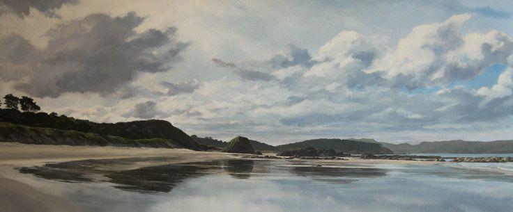 Oil on canvas, 'Tauwharanui, NZ' by Jane Sinclair