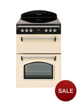 £529 Leisure GRB6CVC 60cm Double Oven Electric Cooker - Cream | very.co.uk