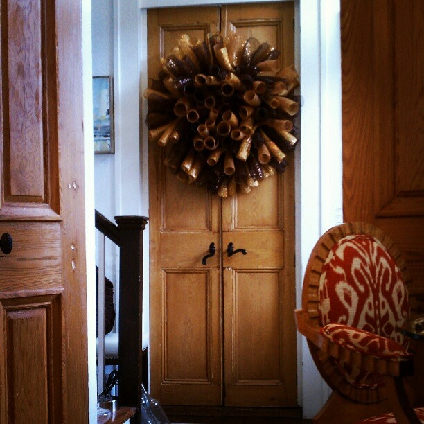 Chet Pourciau Design: DIY Spiral Deco Mesh Wreath