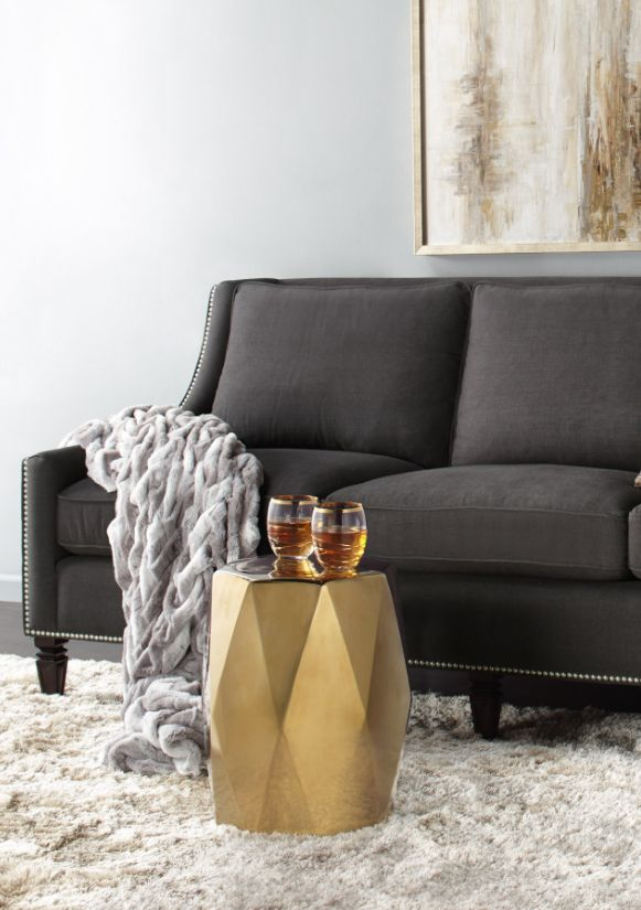 Get The Look Accessorize For Fall With Andover Stool Brixton Throw Living Room