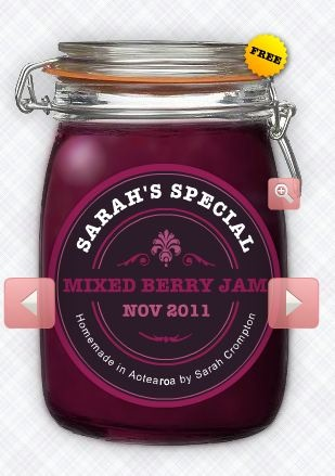 Jam Labelizer, make your own printable homemade jam labels
