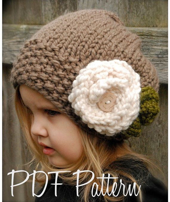 Knitting PATTERNThe Aubrynn Slouchy Toddler by Thevelvetacorn, $5.50