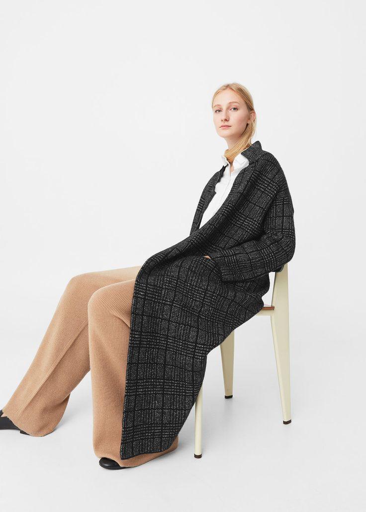 Long cotton coat - Coats for Woman | MANGO USA
