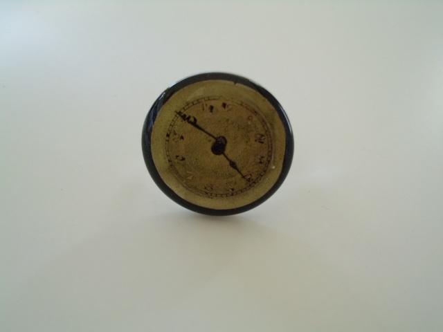 Steampunk round resin ring