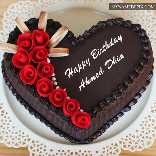 Chocolate Yummy Happy Birthday Cake Name Edit Photos Decoracion