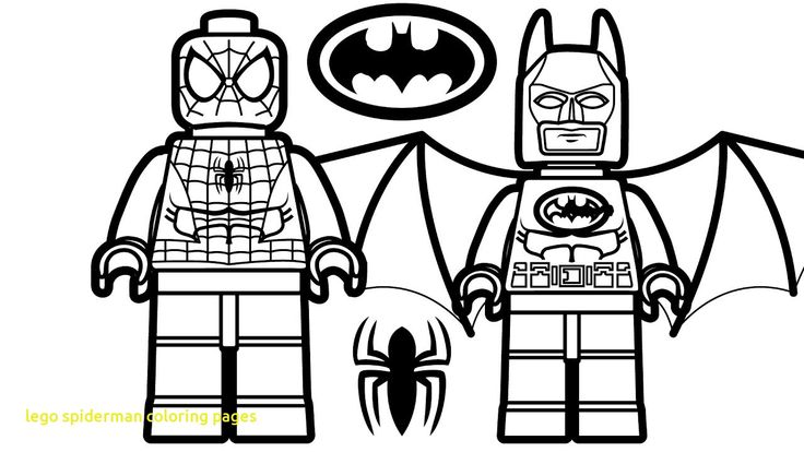 This is a graphic of Nerdy Lego Spiderman Coloring Page