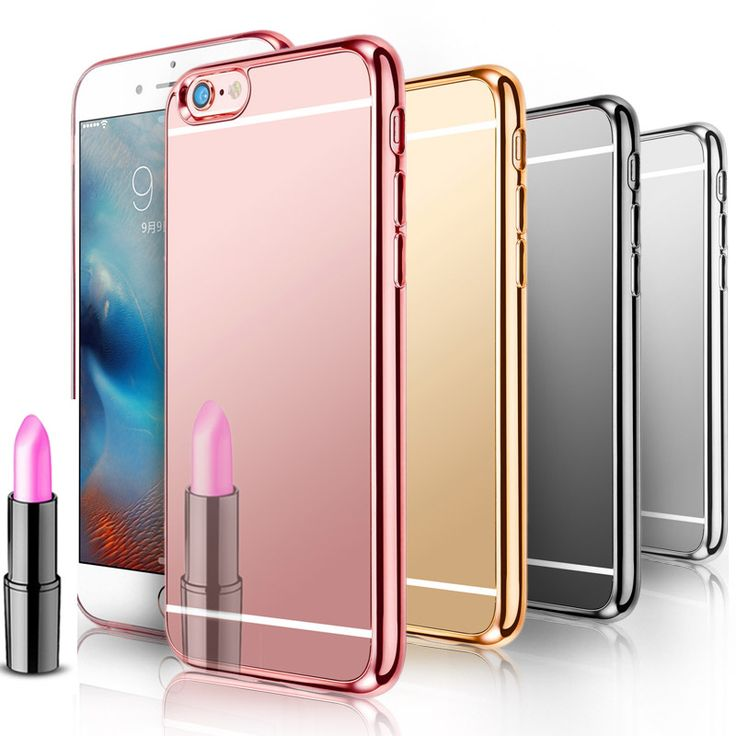 Luxury Mirror Silicone Case For iPhone 6 6S/ 5 5S SE/ 6 6S Plus Soft TPU Silicone Phone Back Cover Coque For iPhone Cases TOMKAS