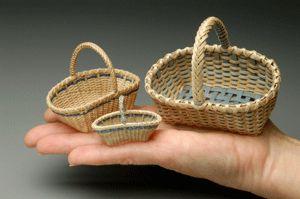 Cheryl Christenson's Miniature Woven Baskets -- Miniature Ash Baskets