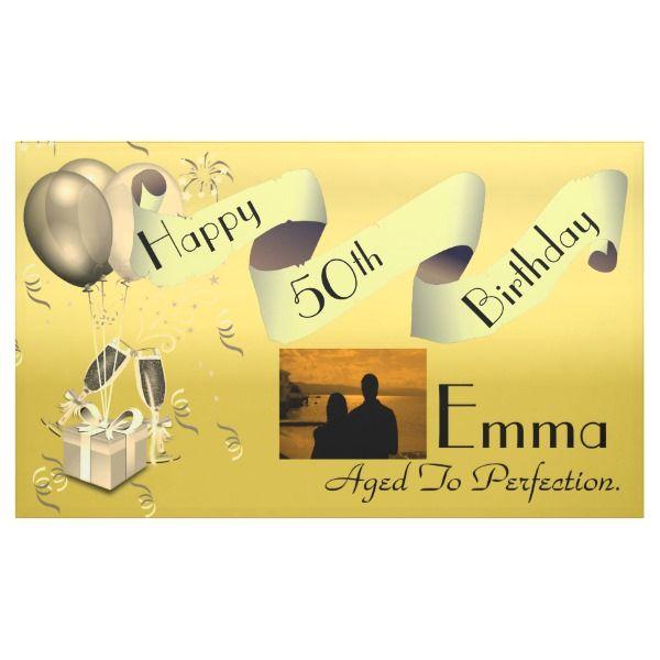 Personalised Custom Idea Happy 50th Birthday Banner
