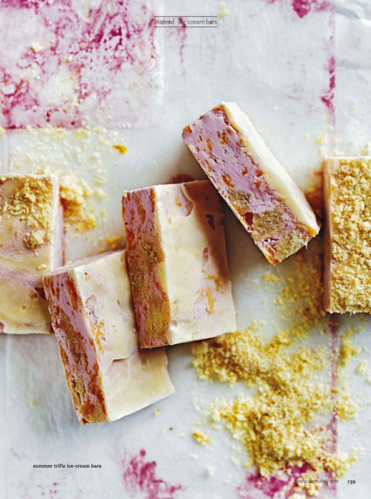Summer Trifle Ice Cream Bars // Pinned by Dauphine Magazine x Castlefield - Curated by Castlefield Bridal Company & Branding Atelier and delivering the ultimate experience for the haute couture connoisseur! Visit www.dauphinemagazine.com, @dauphinemagazine on Instagram, and @dauphinemag on Pinterest • Visit Castlefield: www.castlefield.co and @ castlefieldco on Instagram / Luxury, fashion, weddings, bridal style, décor, travel, art, design, jewelry, photography, beauty, interiors, cuisine…