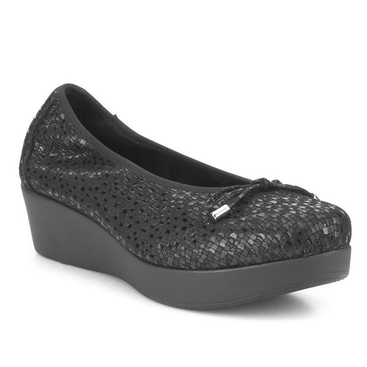 Bailarina Piel Lazo Fosco - Bailarinas - Zapatos mujer - Negro
