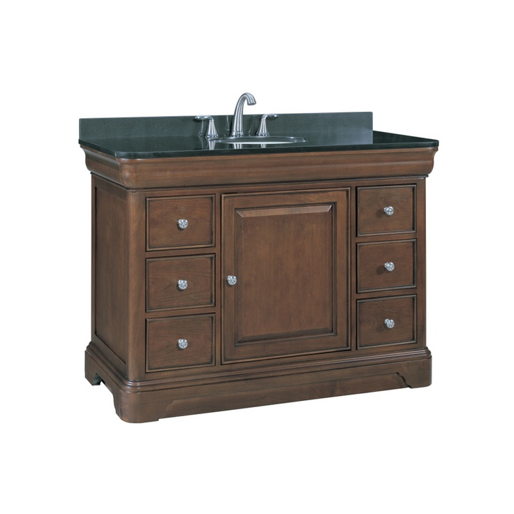 shop allen roth 48 1 2 in rich cherry fenella single on lowes vanity id=14753