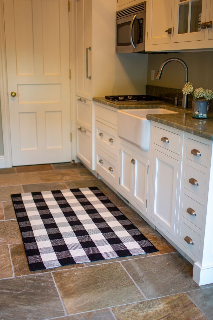 Black And White Buffalo Checkered Rug 3 X 5 For Kitchen Front Door Porch Best For Layered Doormat Plaid Rug Front Door Porch Front Door