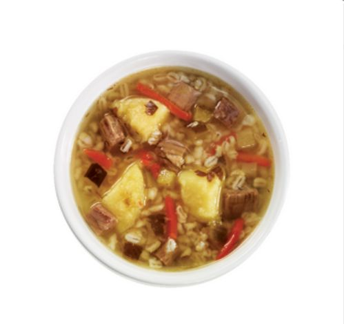"""""""Rassolnik"""" a traditional Russian soup made from pickled cucumbers, barley, and beef. Rassolnik Soup from #YummyMarket"""