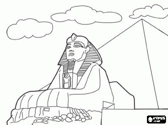 egyptian sphinx coloring pages - photo#9