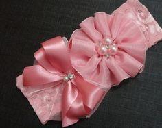 Faixa Flor e Laço Rosa | Lelê Faixas & Tiaras Princesas | Elo7