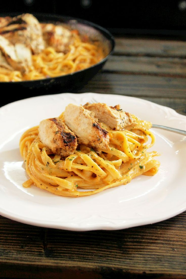 Grilled Greek Chicken Alfredo | Food - Main Dishes | Pinterest