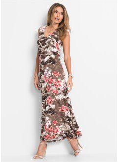 Платье макси, BODYFLIRT, коричневый в цветочек