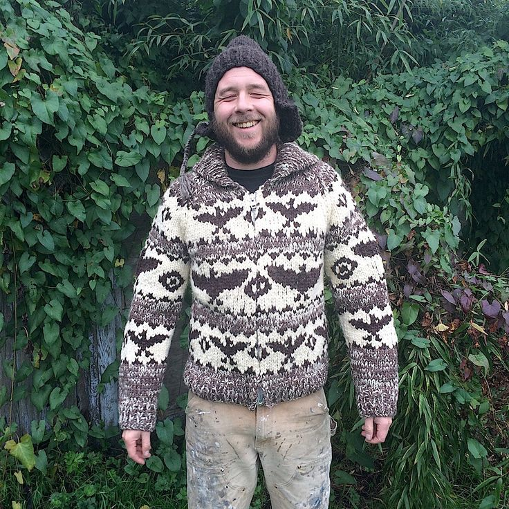 Wool Cowichan Sweater by GOONHOUSE on Etsy
