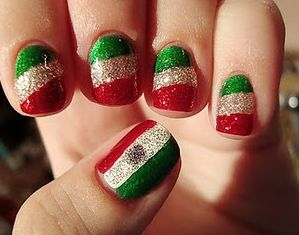 26 best mexico images on pinterest futbol nail art ideas and 10 nail art designs to diy this cinco de mayo prinsesfo Gallery