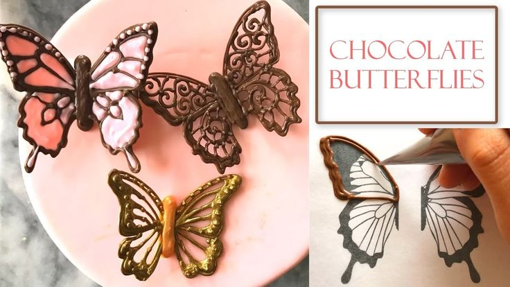 How to Make Chocolate Butterflies | Piped Filigree Designs