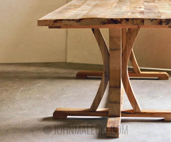 DIY Woodworking Ideas Curved Dining Table Base Detail