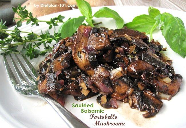 Saut 233 Ed Balsamic Portobello Mushrooms For South Beach Phase 1 Recipe Garlic Olives And