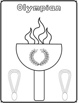 Olympian Coloring Page {FREEBIE} by Innovative Teacher